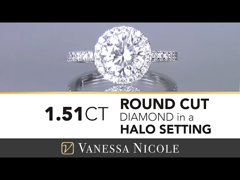1.51ct ROUND HALO ENGAGEMENT RING |  Kasee's Engagement Ring | Vanessa Nicole Jewels