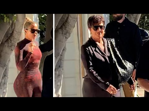 Khloe Kardashian Rocks Fierce Catsuit While Filming New Hulu Show