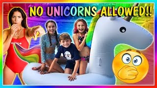 😱WE SNEAK A UNICORN INTO THE WATER PARK😱 | We Are The Davises