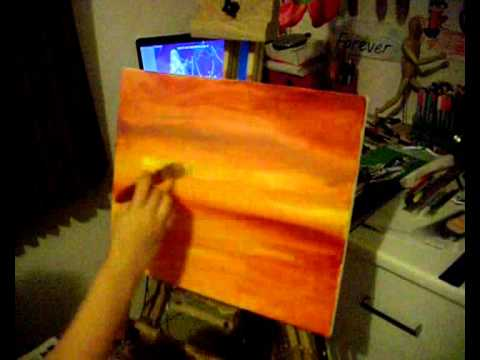 Beach Sunset Painting Tutorial
