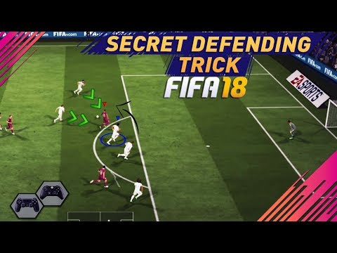 FIFA 18 ONE DEFENDING TRICK TO SAVE YOU IN DEFENCE - TUTORIAL- SECRET DEFENDING TRICK !!!