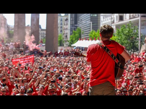Jamie Webster plays to 50,000 Liverpool fans in Madrid | Champions League Final 2019
