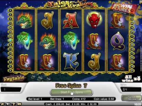 Tales Of Krakow Slot - 1 Liner Big Win!