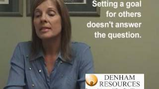 A woman, interviewing for an Medical Administrator position, answers the common interview question: Describe a major goal you set for yourself.  This is an example of a BAD way to answer this question.Created by Fresno, Californias most respected Recruiting, Staffing and Human Resources consulting firm  Denham Resources.