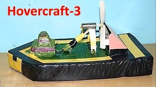 How To Make A Mini Toy Hovercraft - Single Motor Driven