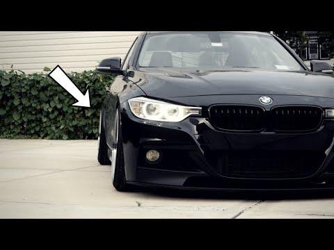 I SLAMMED THE BMW!! (NEW WHEELS)