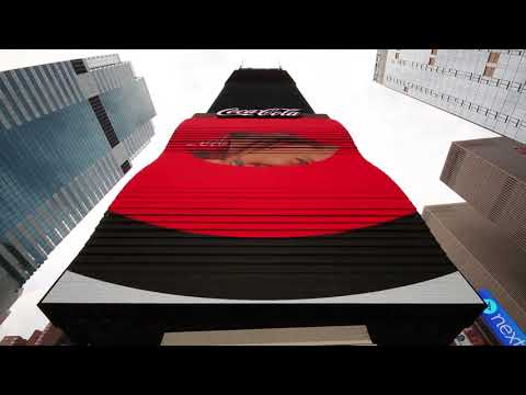 3D outdoor advertising led display screen for Coke Sign project in Times Square