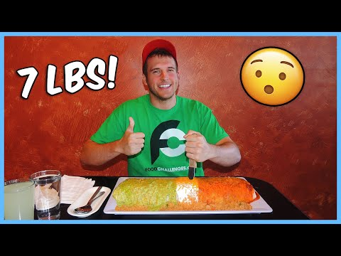 Eating a 7 lb Mexican Burrito - Restaurant Challenges