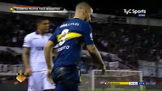Líbero: ¿Cuántas pelotas tocó Benedetto ante Lanús?