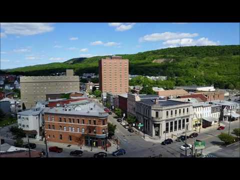 Aerial trip around Tamaqua, Schuylkill County, PA