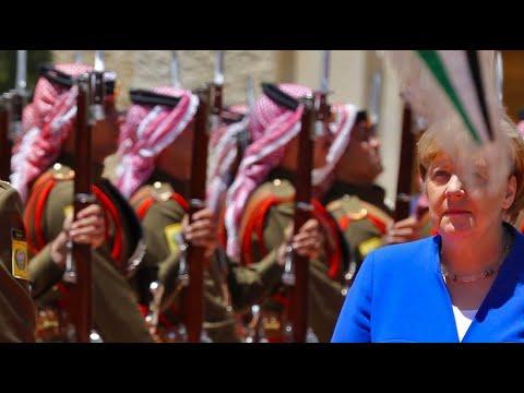 Merkel lobt Leistungen Jordaniens in der Flüchtlingsk ...