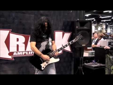 Jeff Duncan of Armored Saint/DC4 solo performance at the Krank booth,NAMM 2012