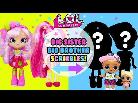 LOL SURPRISE Big Sister & Big Brother Scribbles DIY 2 Makeovers in 1 Big Sister Show
