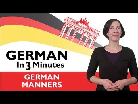 Danke und Bitte auf Deutsch