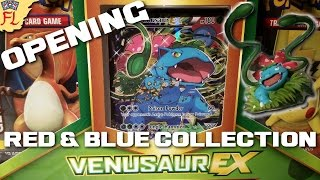 Opening a Pokemon TCG Venusaur EX Red and Blue Collection Box- SO COOL! by Flammable Lizard