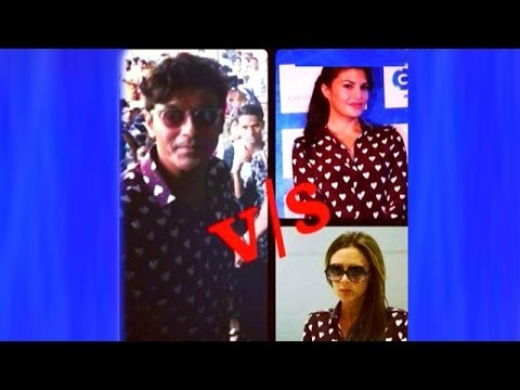 Chunky Pandey 'SPOTTED' wearing the same OUTFIT like Jacqueline Fernan...