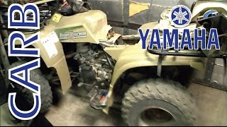 9. Yamaha ATV 250 Carburetor Repair part 1 of 2
