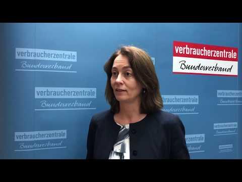 Bundesverbraucherministerin Katarina Barley zur Mus ...