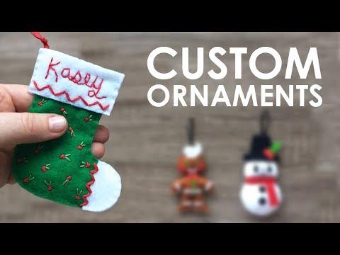 Let's Sew: CUSTOM CHRISTMAS ORNAMENTS