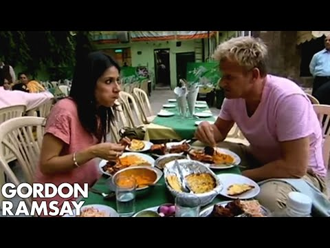 Spicy Indian Food - Gordon Ramsay travels to Delhi to sample real Indian food and see how it compares to the English version we're used to. He samples food at one of India's mos...