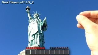 Real Life Minecraft - STATUE OF LIBERTY IN NEW YORK CITY!!