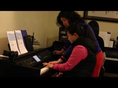 Group Piano Lesson By Felicia Zhang,Video Two (Sunday, April 23, 2017)