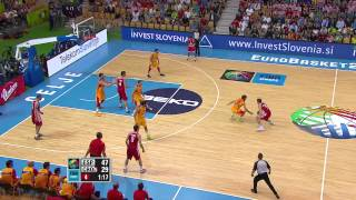Postgame B. Bogdanovic, P. Aguilar ESP-CRO EuroBasket 2013