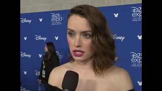 "At Disney's D23 expo in Anaheim, Daisy Ridley talks about dealing with heightened fan expectations for ""Star Wars: The Last Jedi"" after the ""wonderful feedback"" for ""The Force Awakens."" She was joined by co-stars John Boyega and newcomer Benicio del Toro. (July 17)Subscribe for more Breaking News: http://smarturl.it/AssociatedPress