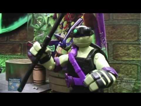 Toy Fair 2013: Playmates Teenage Mutant Ninja Turtles Figure Showroom Footage