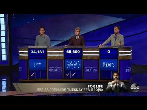 James Holzhauer Roasts Brad Rutter in Jeopardy GOAT Competition