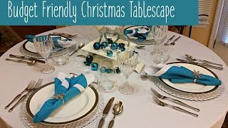Budget Friendly Christmas Tablescape ~ Amy Learns to Cook