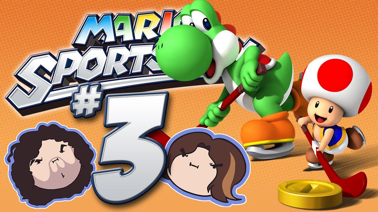 Mario Sports Mix: Hockey! – PART 3 – Game Grumps VS