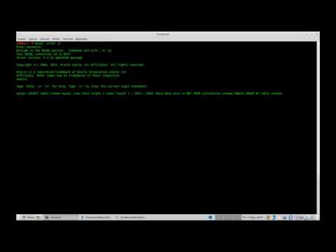 MySQL - check database and table size