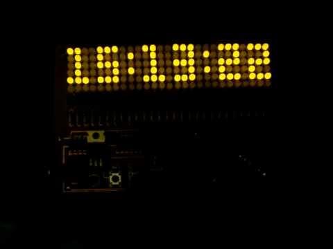 LED Matrix Digital Clock pixel