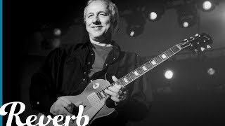 "Dire Straits guitarist and songwriter Mark Knopfler is known for his delightfully warm and complex finger picking technique. In this lesson, Joe Shadid looks into the main riff from ""Southbound Again"", a track off of Dire Straits' self-titled debut album. Joe examines Knopfler's signature finger picking technique and how the various picking patterns he uses can be applied in varying settings. Read more about Mark Knopfler & Dire Straits at http://bit.ly/2wACoHD"