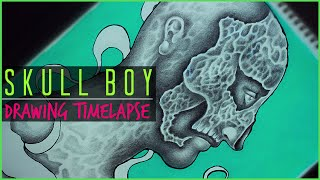 Skull Boy Drawing Timelapse | #DrawWithMe