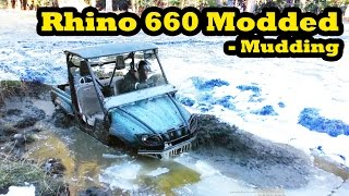 2. Yamaha Rhino 660 Two Seater Side By Side - Mudding