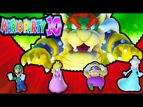 Mario Party 10 Wii U BOWSER PARTY 2 Player Chaos Castle PART 3 Gameplay Walkthrough Nintendo HD