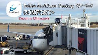TRIP REPORT: Delta Airlines Boeing 737-900 Detroit(DTW)-Minneapolis(MSP) Comfort+
