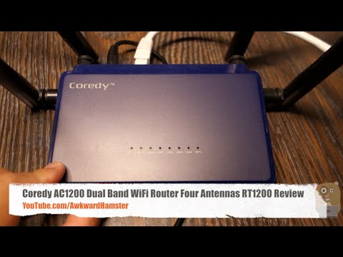 Coredy AC1200 Dual Band WiFi Router Four Antennas RT1200 Review