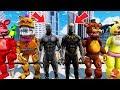 ANIMATRONICS n BLACK PANTHER vs KILLMONGER! (GTA 5 Mods For Kids FNAF RedHatter)
