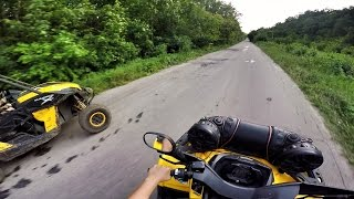 6. Can-Am Maverick 1000 VS Can-Am Outlander 650 MAX XT (Eco/Sport) | Drag-Race | GoPro | Квадроциклы