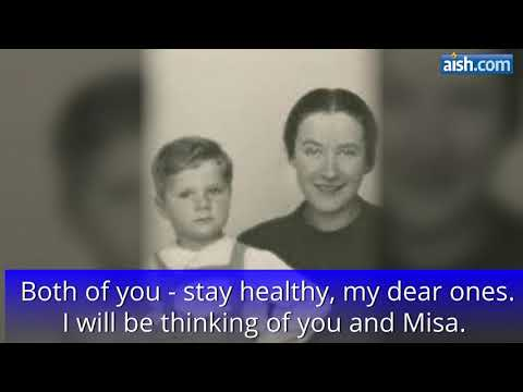 Moments before Being Gassed at Auschwitz, A Mother's Letter