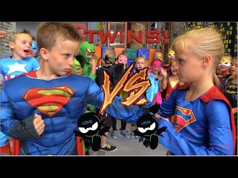 BOYS vs GIRLS! Super Birthday Bash! Twin Ninja Kidz!