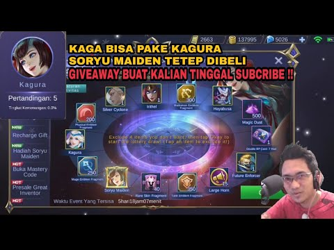 Lucky Spin Kagura Skin Limited Soryu Maiden Mobile Legends Indonesia