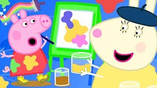 Peppa Pig Official Channel ⭐️ New Season ⭐️ Peppa Paints Using Colourful Mud
