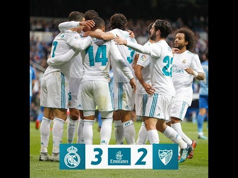 Real Madrid vs Malaga 3 - 2 All Goals & Highlights HD La Liga 25-11-2018