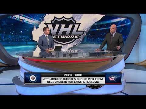NHL Tonight:  Columbus acquires Laine and Roslovic for Dubois and a 3rd