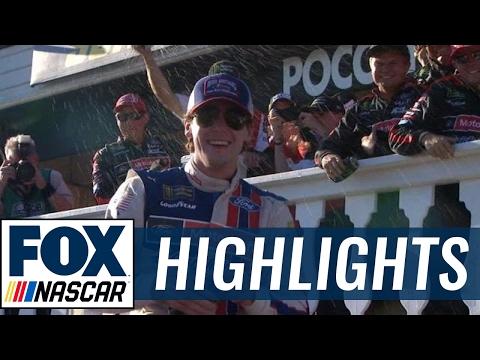Ryan Blaney Grabs First Career Win   2017 POCONO   FOX NASCAR