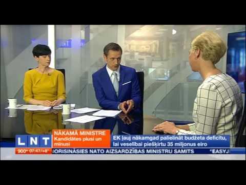 "Saruna ar veselības ministra amata kandidāti Andu Čakšu LNT ""900 sekundes"""